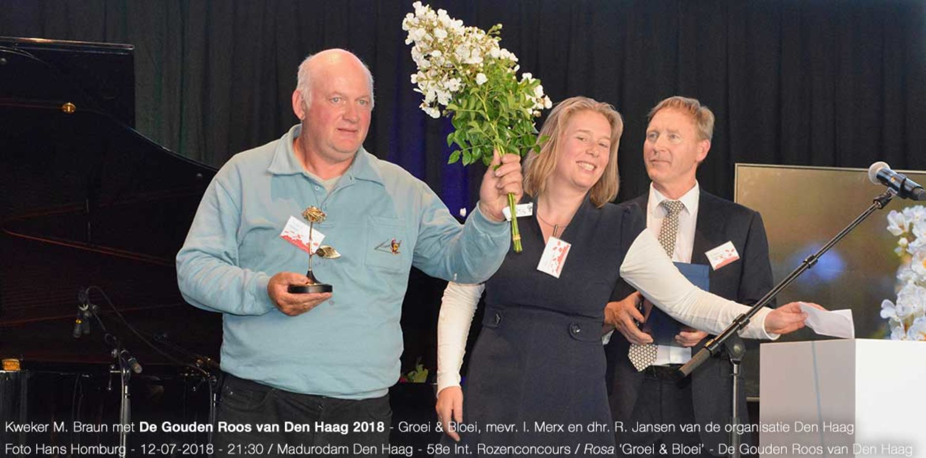 58e Internationaal Rozenconcours Den Haag 12 juli 2018